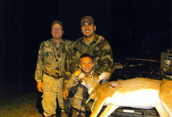 Don with Jason, Zane and his first deer.